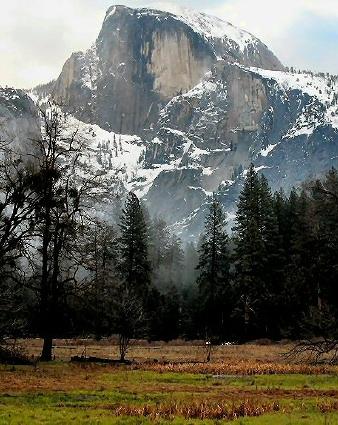 Half Dome In Winter, Yosemite National Park
