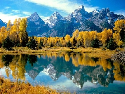 Grand Teton Mountain Reflection