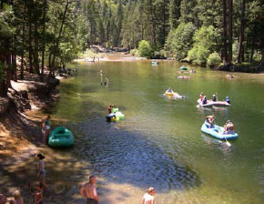 Rafting along the Merced River, NPS