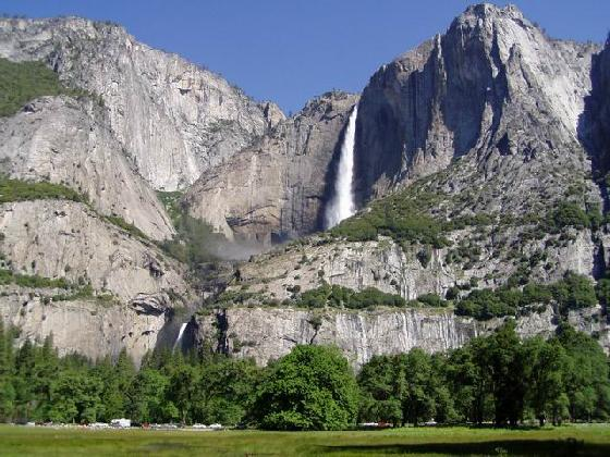 national park yosemite falls